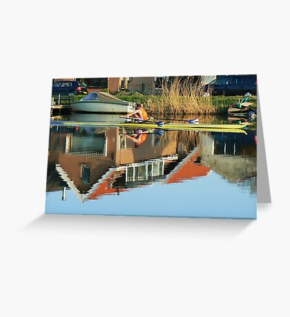 rower  canoeing Greeting Card