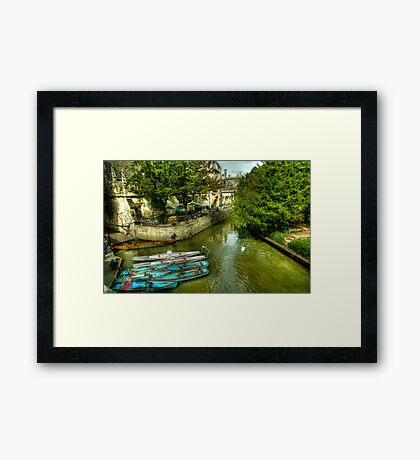 Punts, Patio and Parasols Framed Print