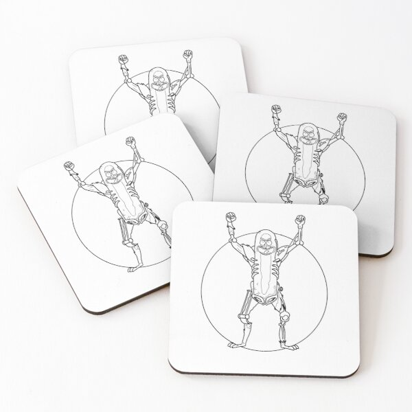 Pickle Rick | Rick and Morty Character Coasters (Set of 4)