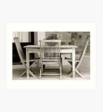 Table & Chair Art Print