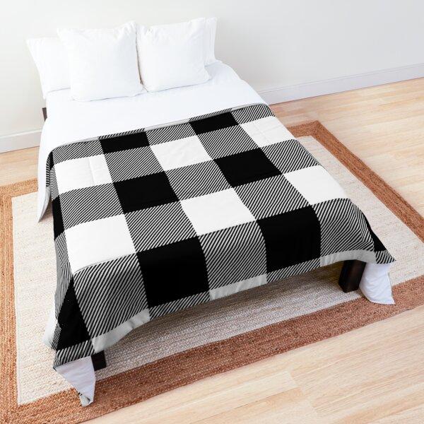 Black and White Plaid  Comforter