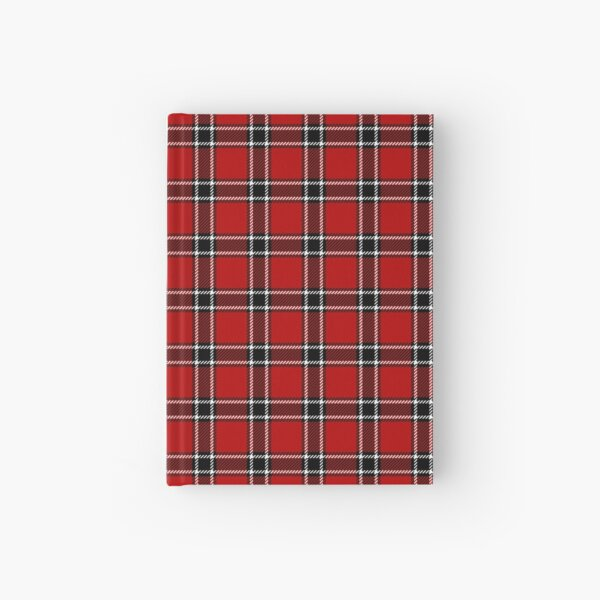 Red Black and White Tartan Hardcover Journal