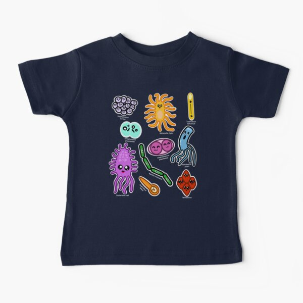 Kawaii Types Of Bacteria Baby T-Shirt