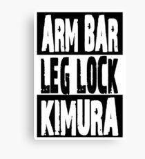 Jiu Jitsu - Arm Bar, Leg Lock, Kimura Canvas Print