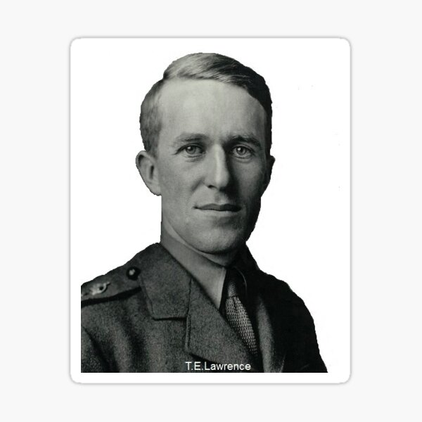 T.E.Lawrence (Lawrence of Arabia) in military uniform Sticker