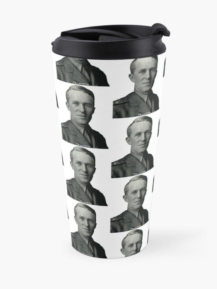 Alternate view of T.E.Lawrence (Lawrence of Arabia) in military uniform Travel Mug