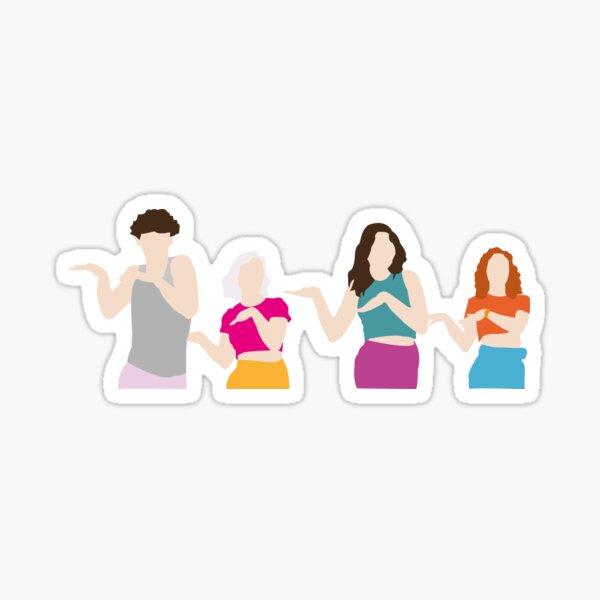 The Regrettes - I Dare You illustration Sticker