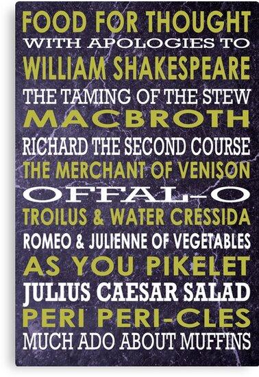 Apologies to Shakespeare by Loredana Crupi