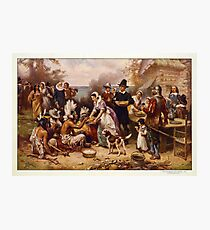 The First Thanksgiving 1621 by Jean Leon Gerome Ferris Photographic Print