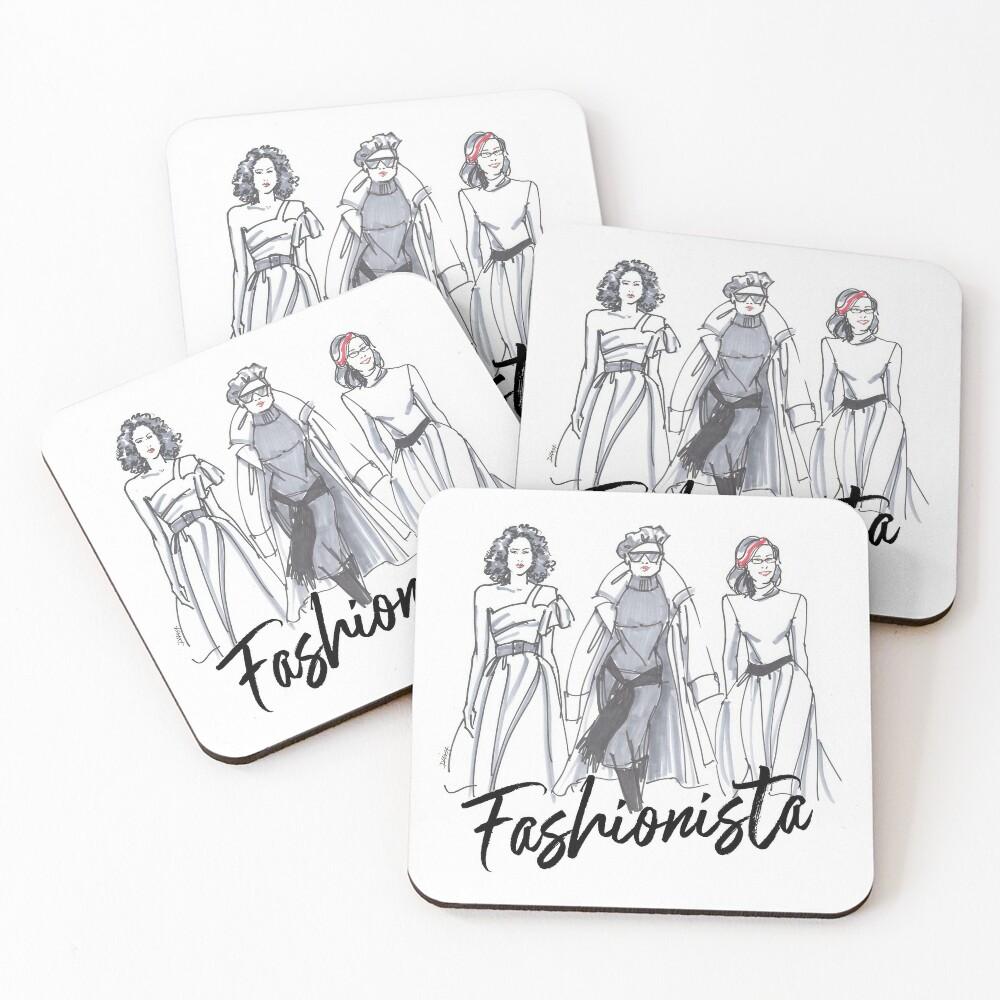 Sassy Fashionistas Coasters (Set of 4)