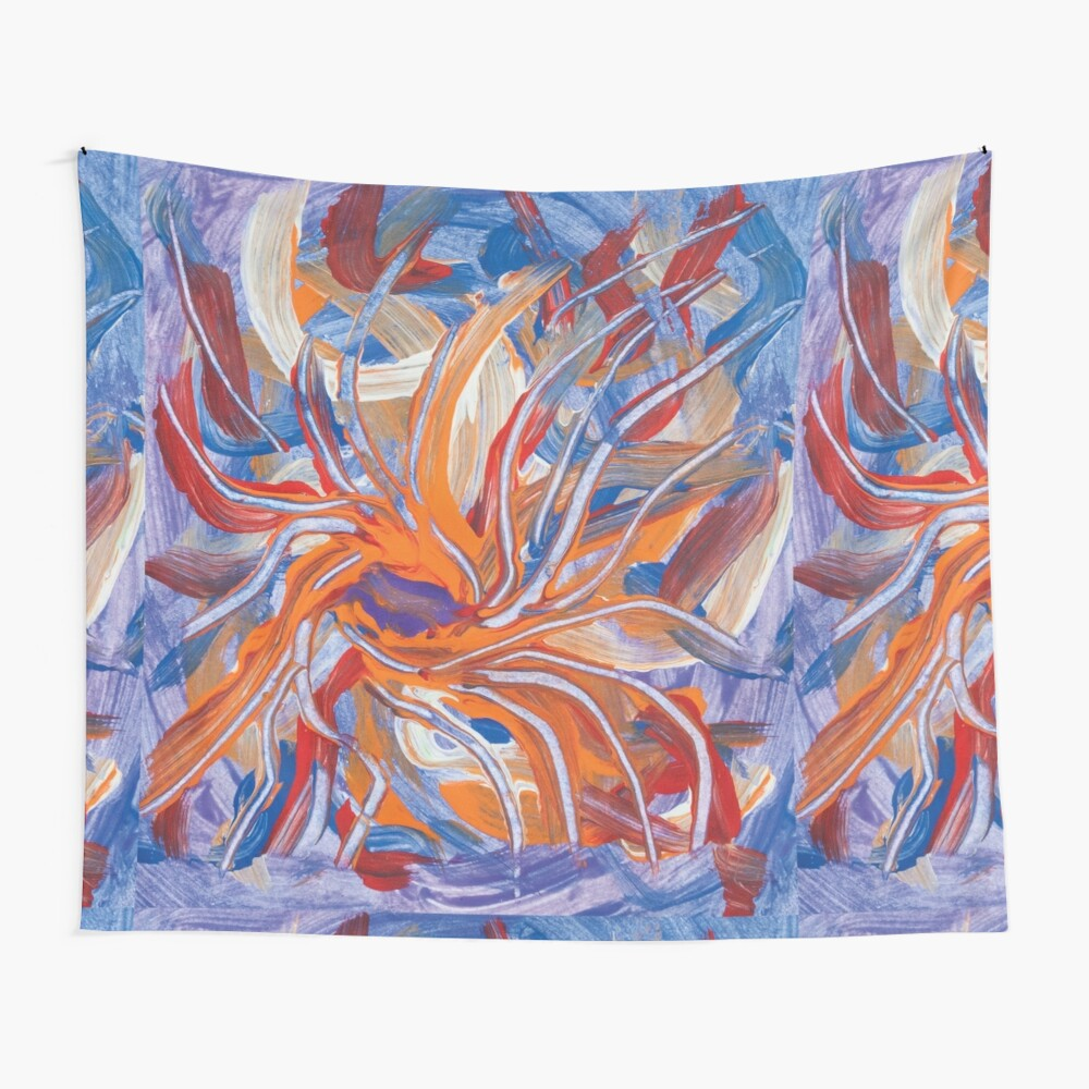 confluence shape abstraction Wall Tapestry