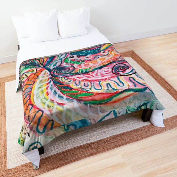 abstract concentric nature creation Comforter