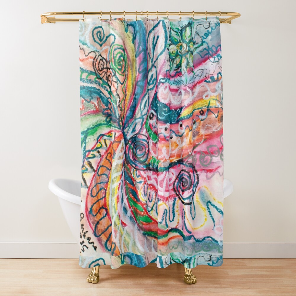 abstract concentric nature creation Shower Curtain