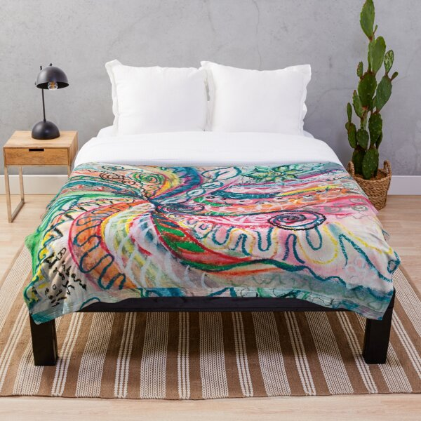 abstract concentric nature creation Throw Blanket