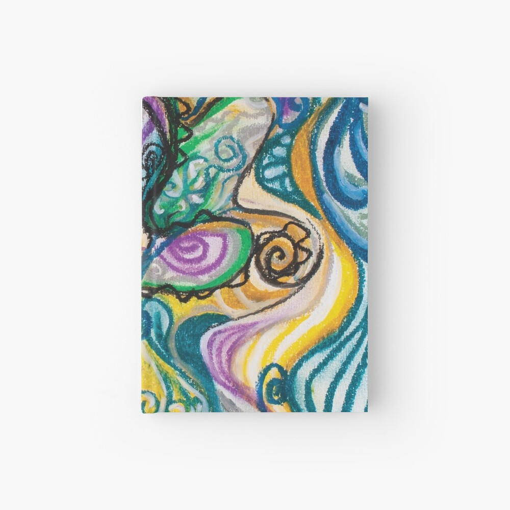 multicolored abstract composition Hardcover Journal