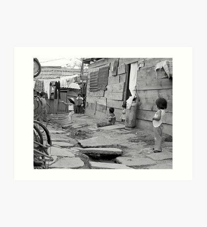 "At Play in the alleys of ""Shantytown"" Art Print"