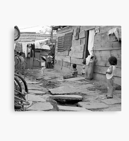"""At Play in the alleys of """"Shantytown"""" Canvas Print"""