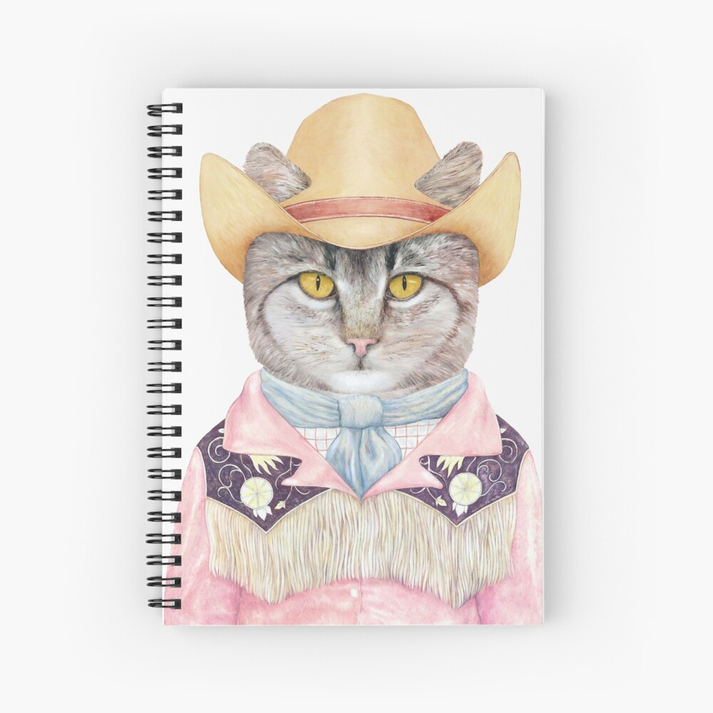 Country Cat Spiral Notebook