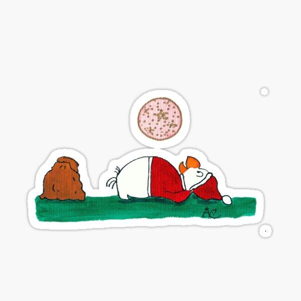 Santa plays belly ball Sticker
