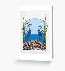 Herons Renewal Greeting Card