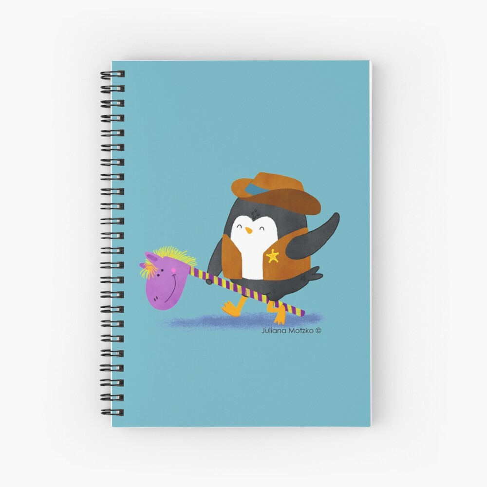 Cowboy Penguin Spiral Notebook