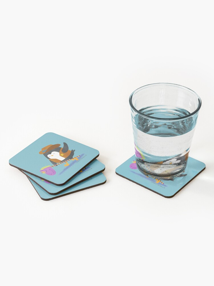 Alternate view of Cowboy Penguin Coasters (Set of 4)