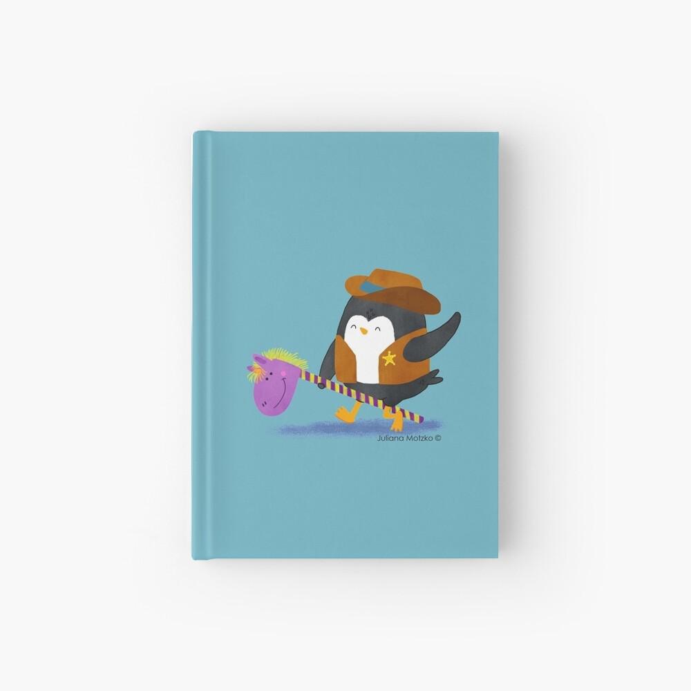 Cowboy Penguin Hardcover Journal