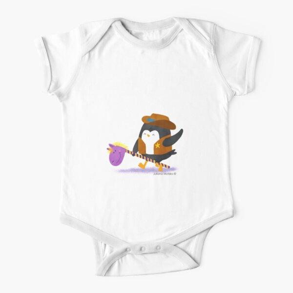 Cowboy Penguin Short Sleeve Baby One-Piece