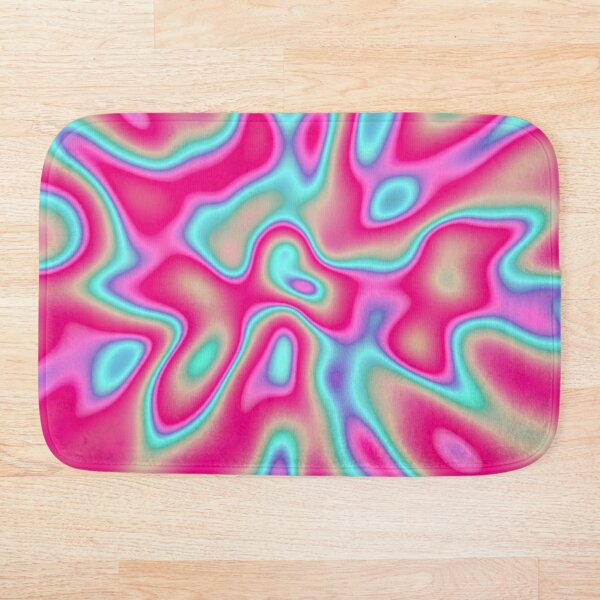 Abstract random colors #4 Bath Mat