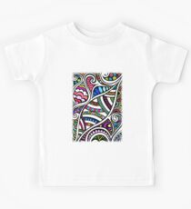 Colourful Curling Kids Tee