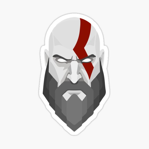 Kratos de God Of War PS4 Sticker