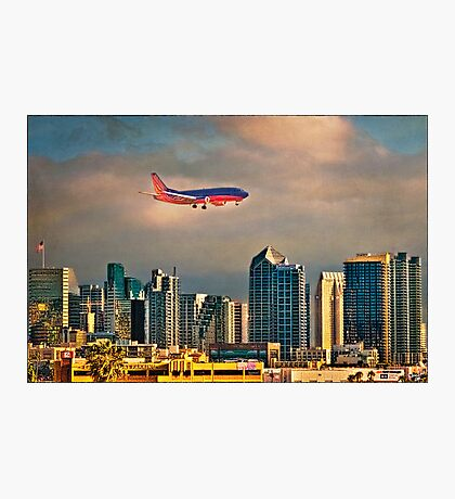 Flying Past Downtown Photographic Print