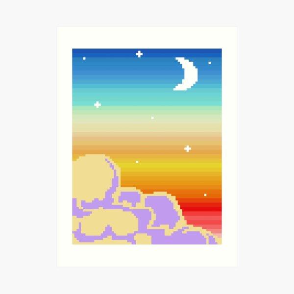 Pixellated Sunset Art Print