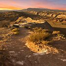Sunset at the Ojito Anticline (Panorama) by Mitchell Tillison