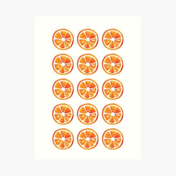 Orangenscheibe Muster Kunstdruck