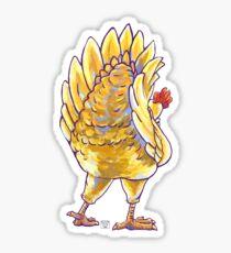 Chicken Silhouette Butt Sticker