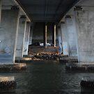 Fishing Under the Motorway Bridge by Graham E Mewburn