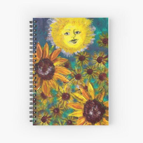 The Sun Tarot Card Spiral Notebook