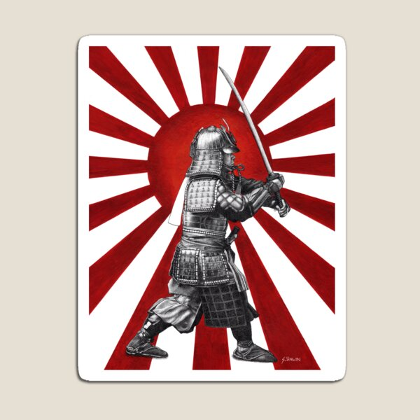Rising Sun Warrior Magnet