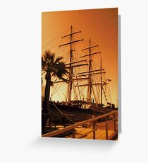 She's an old iron barque Greeting Card