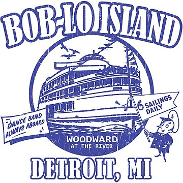 Boblo Island, Detroit MI (vintage distressed look) by robotface