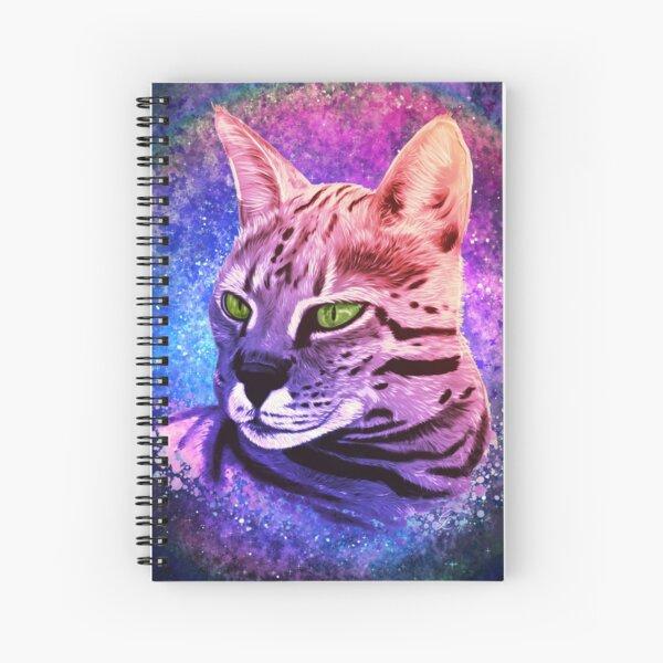 Colorful Savannah Cat Spiral Notebook