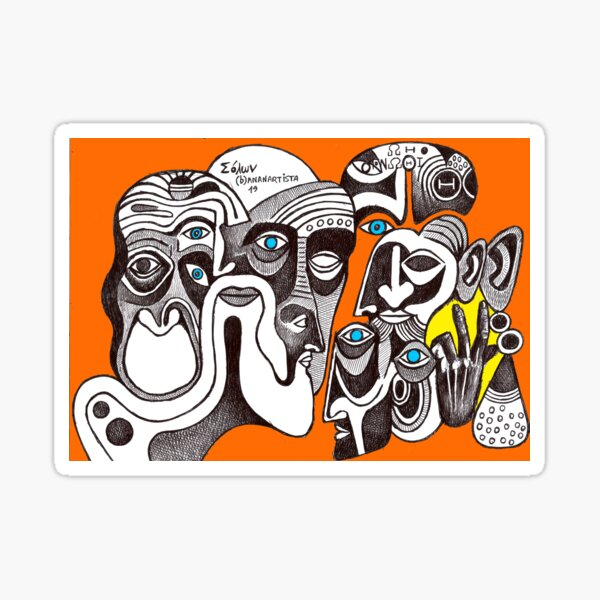 The hand of Zygmunt Bauman (detailed drawing) Sticker