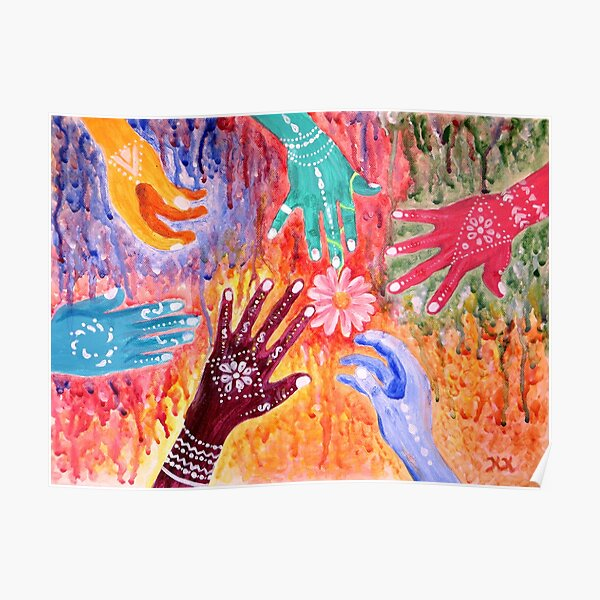 Holi - Indian Festival Painting Poster