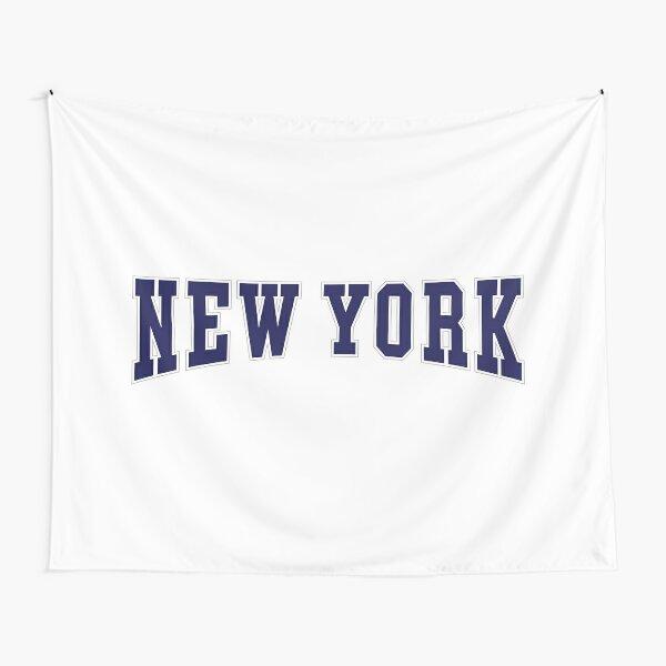 New York - Navy Tapestry