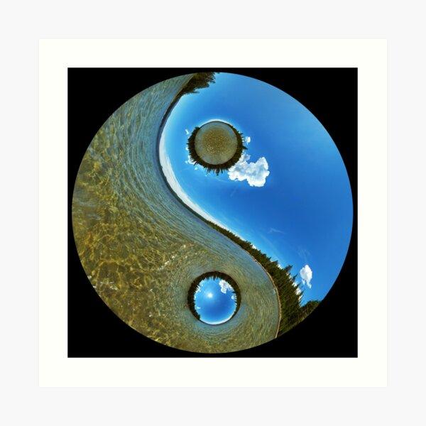 Yin-Yang Nature Water and Sky Art Print