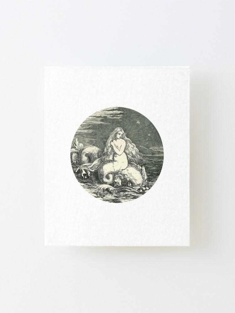 Alternate view of Vintage Mermaid Mounted Print