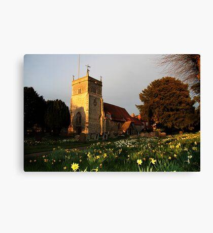 St Mary's Church Bucklebury Canvas Print