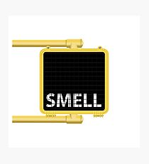 New York Crosswalk Sign Smell Photographic Print