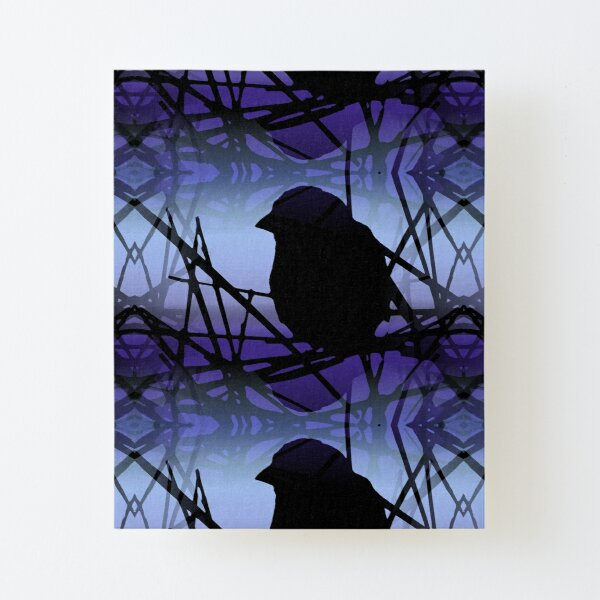 Contemplation in Blue and Purple Canvas Mounted Print